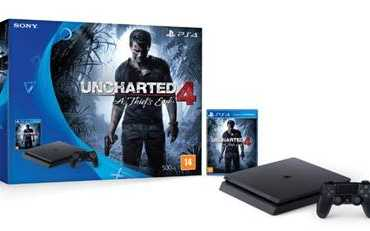 Playstation 4: Versão mais fina e com Bundle de Uncharted 4 chega ao Brasil