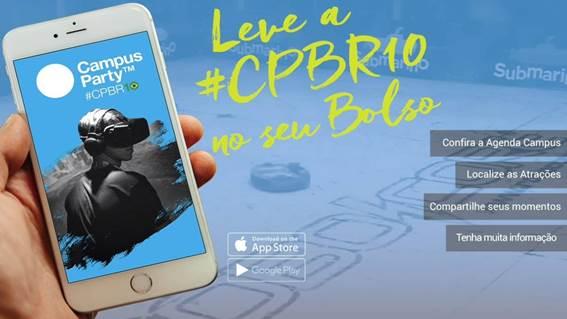 Campus Party lança aplicativo com programação e interação entre os participantes 1