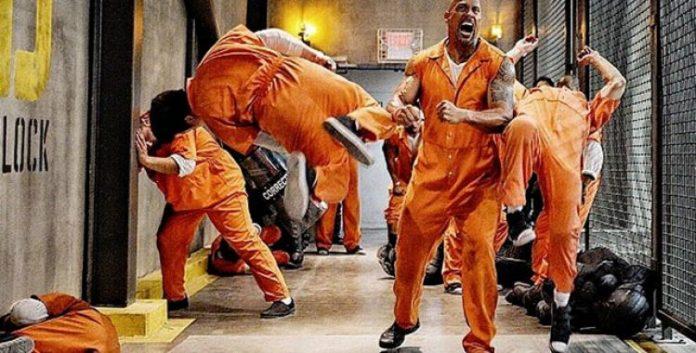 Velozes e Furiosos 8: Nova cena mostra Dwayne Johnson e Jason Statham fugindo da prisão 1