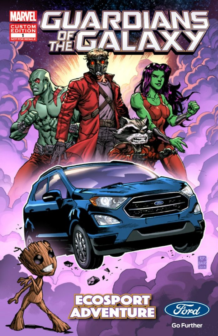 Parceria entre Ecosport e Marvel rende HQ Virtual exclusiva de 'Guardiões da Galáxia' 2