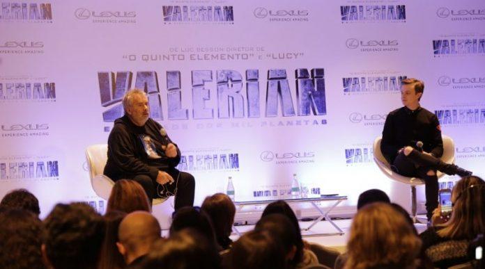 Luc Besson e Dane DeHaan falam sobre o longa 'Valerian e a Cidade dos Mil Planetas' em SP 1