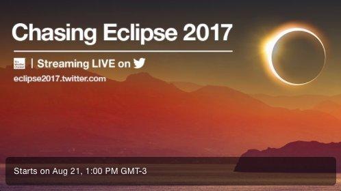 Twitter transmite eclipse solar na segunda-feira 1