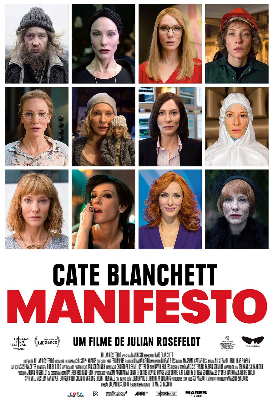 Manifesto: Novo cartaz do filme mostra as 13 personagens interpretadas por Cate Blanchett 1