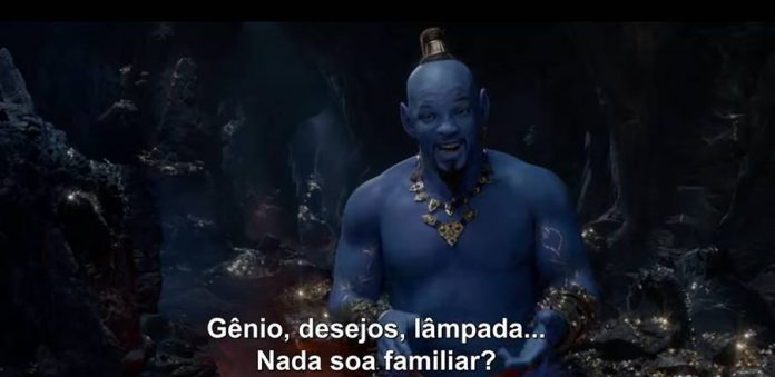 Aladdin: Novo vídeo mostra Will Smith como gênio 1