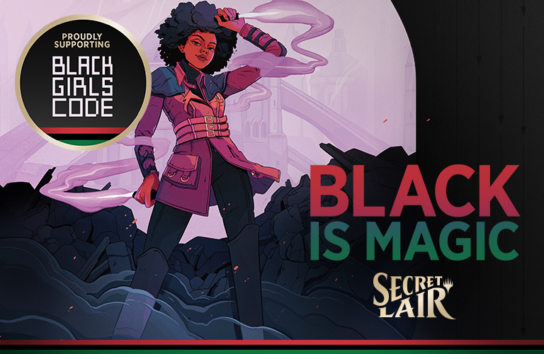 Com arte de brasileira, Magic: The Gathering lança Secret Lair em homenagem à identidade negra e lucros para ONG Black Girls CODE 1