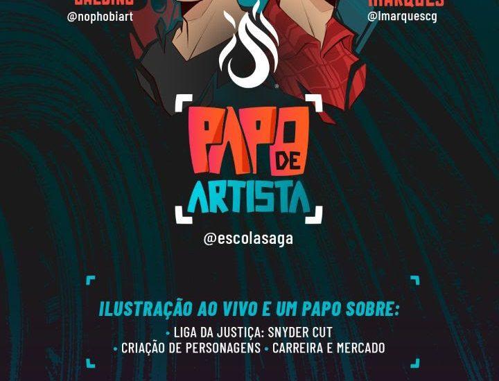 """Escola SAGA promove hoje (24) o primeiro """"Papo de Artista"""" em seu canal na Twitch 1"""