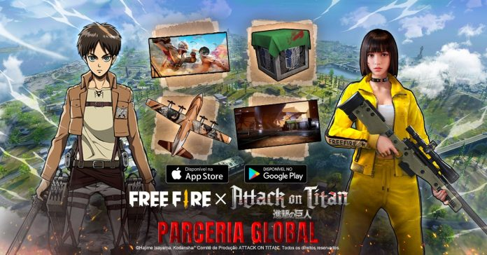 Free Fire Attack on Titan Skin anuncio