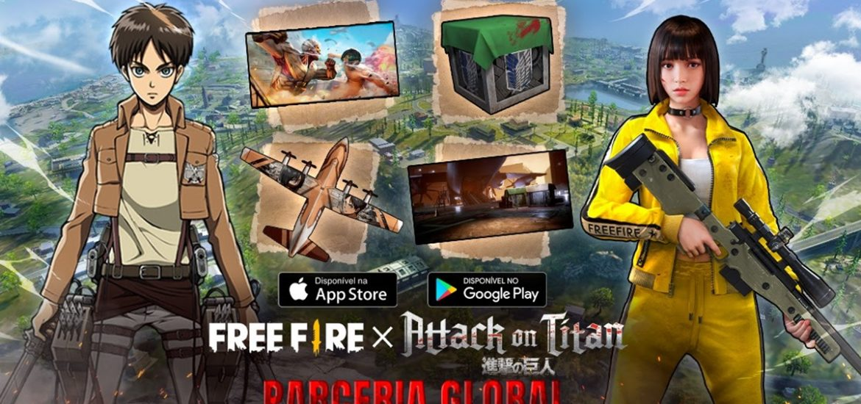 Começou a invasão de Attack on Titan em Free Fire 3
