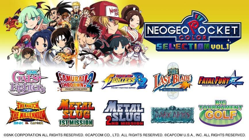 Clássicos do NeoGeo Pocket Color chegam ao Switch com NeoGeo Pocket Color Selection Vol. 1 1