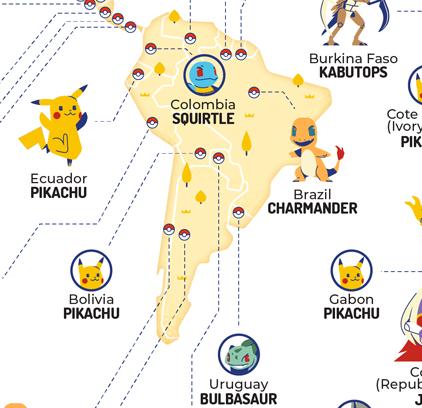 Qual o Pokemon mais popular do mundo? E no Brasil? 2