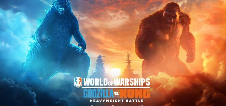 Godzilla e Kong batalham pela supremacia em World of Warships 1