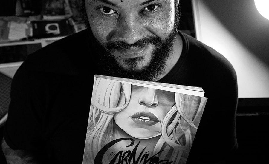 """Editora americana Behemoth Comics lança """"Carnívora"""", do quadrinista carioca PJ Kaiowá 2"""