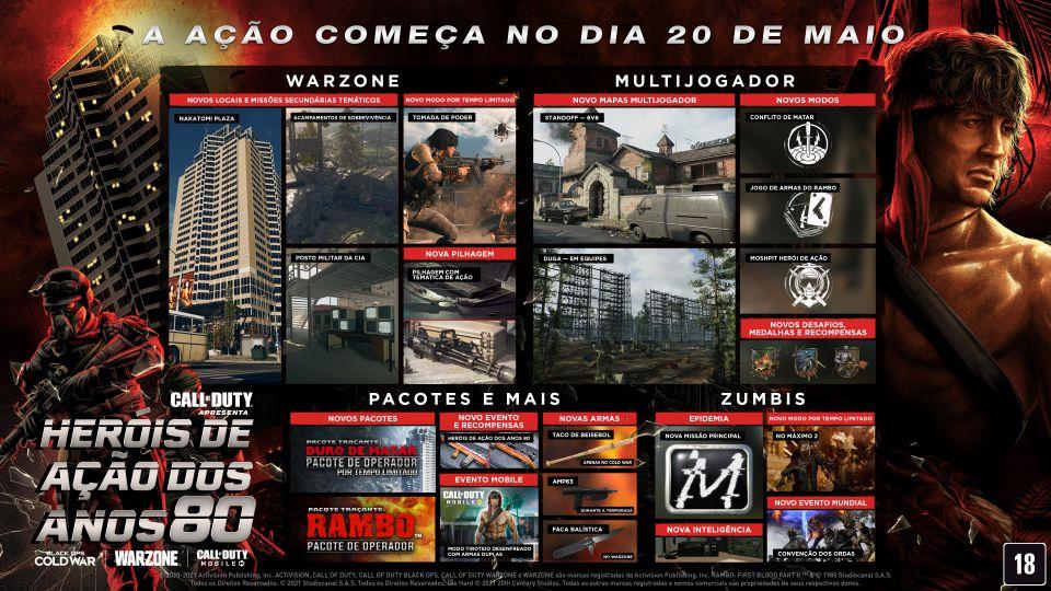 Saiba tudo sobre o lançamento da explosão oitentista de Rambo e John McLane em Call of Duty 1