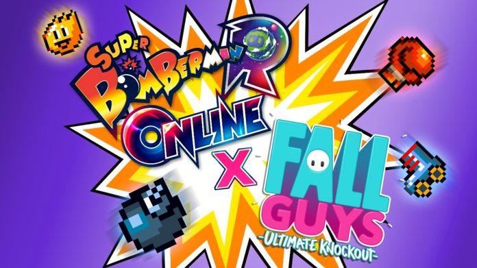 Fall Guys: Ultimate Knockout e Super momberman R On-line colidem em crossover 1