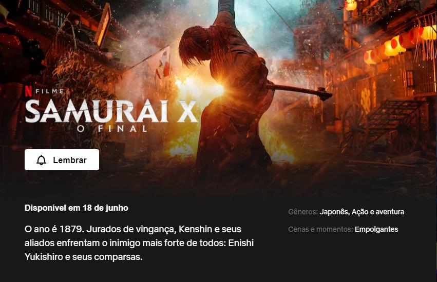 Rurouni Kenshin: The Final | Netflix lista oficialmente data de estreia do longa 1