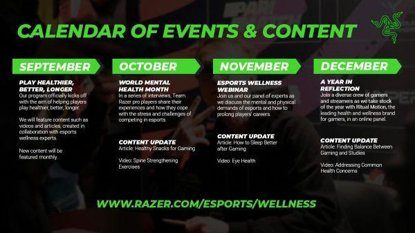 Razer comanda iniciativa focada em bem-estar e desempenho nos eSports 2